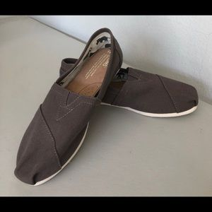 Original Toms Cloth Slip-Ons Gray